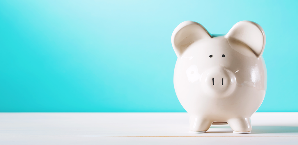 Piggy bank for extra money to be stored in