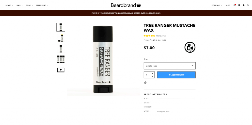 Beardbrand product page