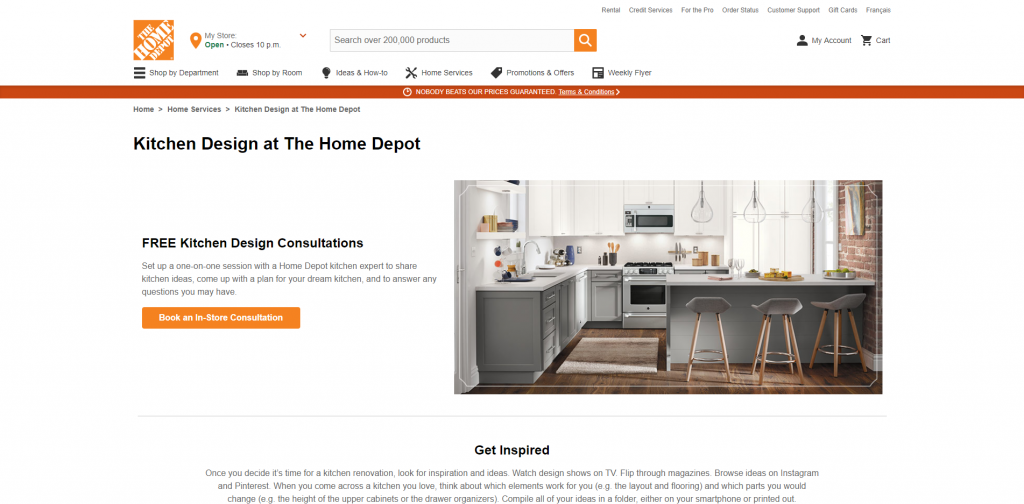Home Depot Free Kitchen Consultation