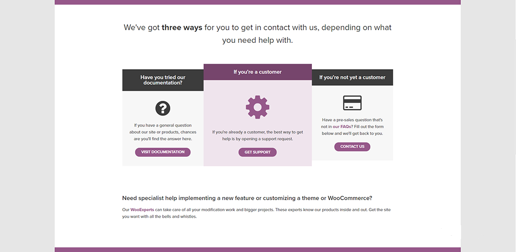 WooCommerce customer service