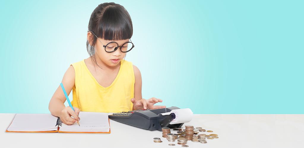 Child learning money management