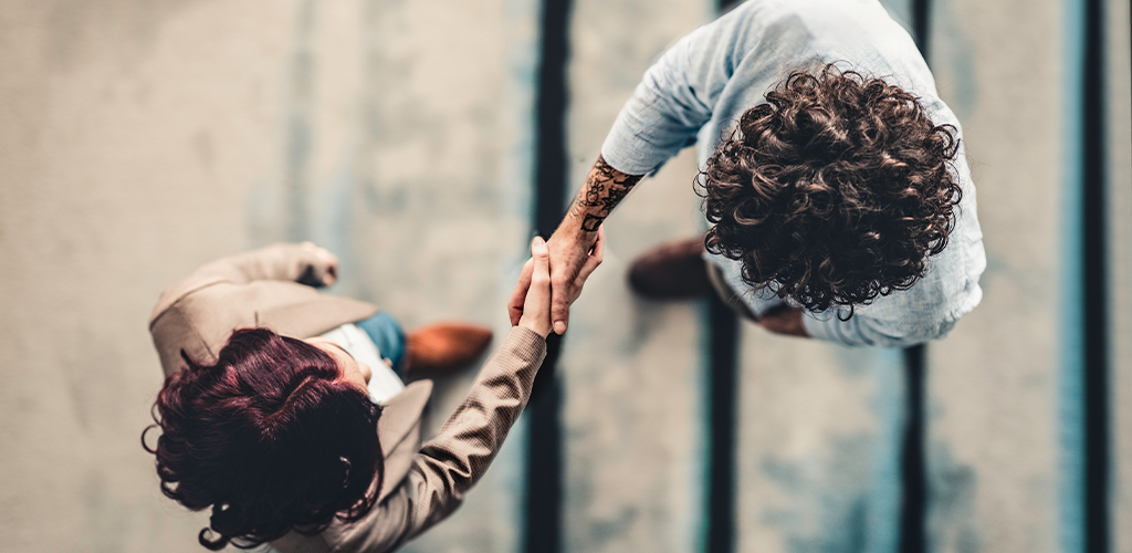 Client relationships handshake