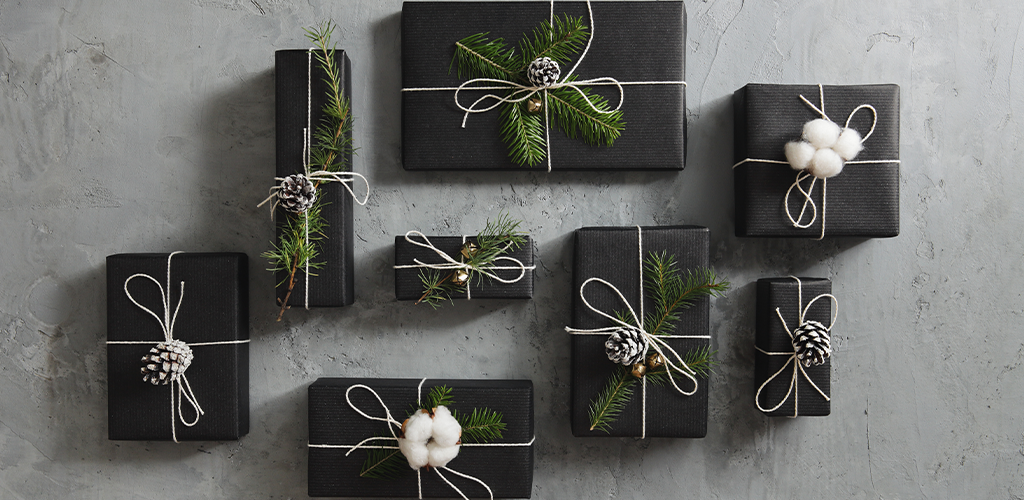 Holiday season gifts on a table