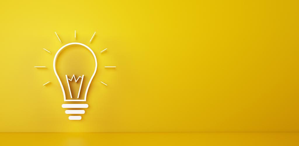 Business idea lightbulb