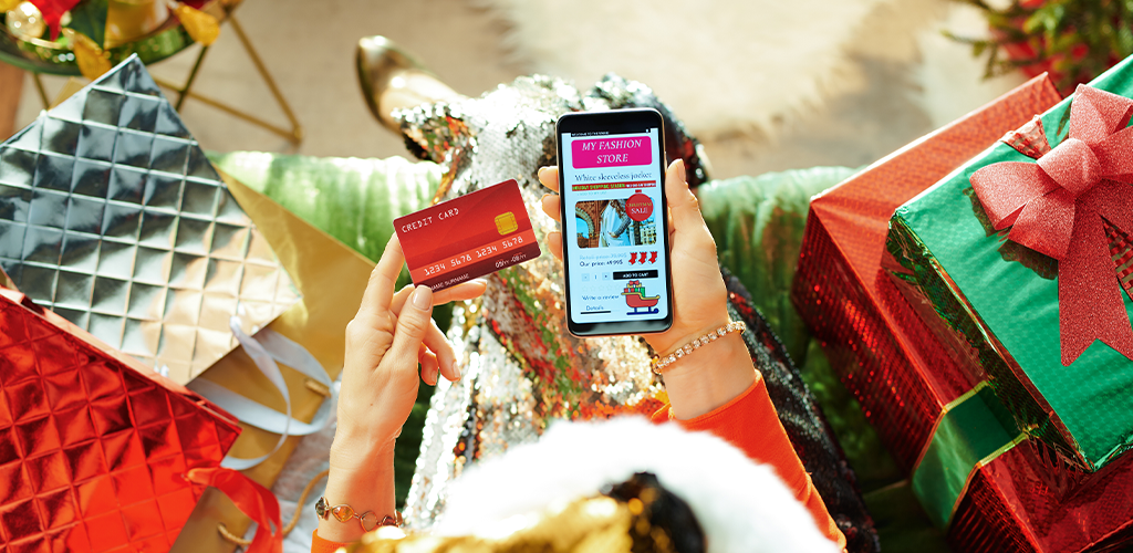 Shopping on a smartphone