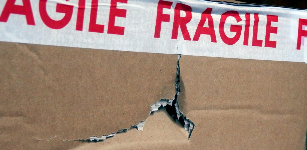 Damaged shipping box