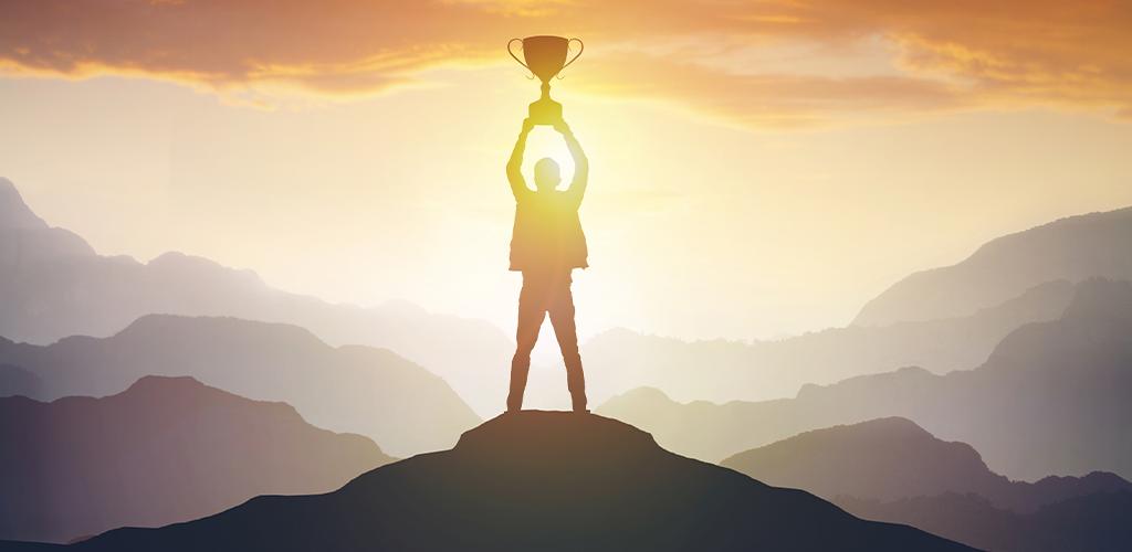 Achievement trophy success