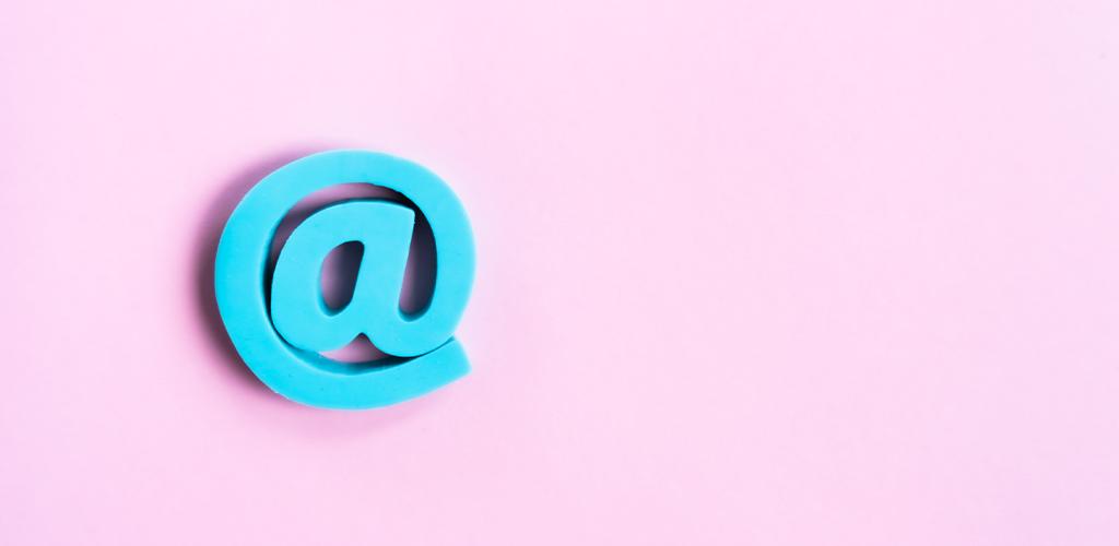 Email address @ symbol