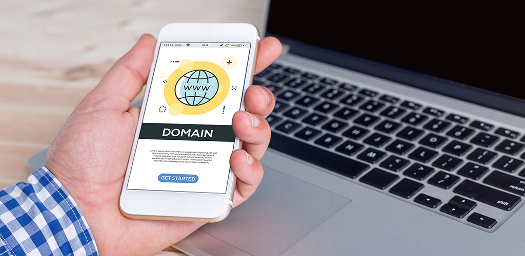 Domain name registration on cell phone
