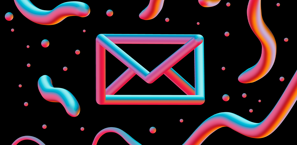 Neon email icon