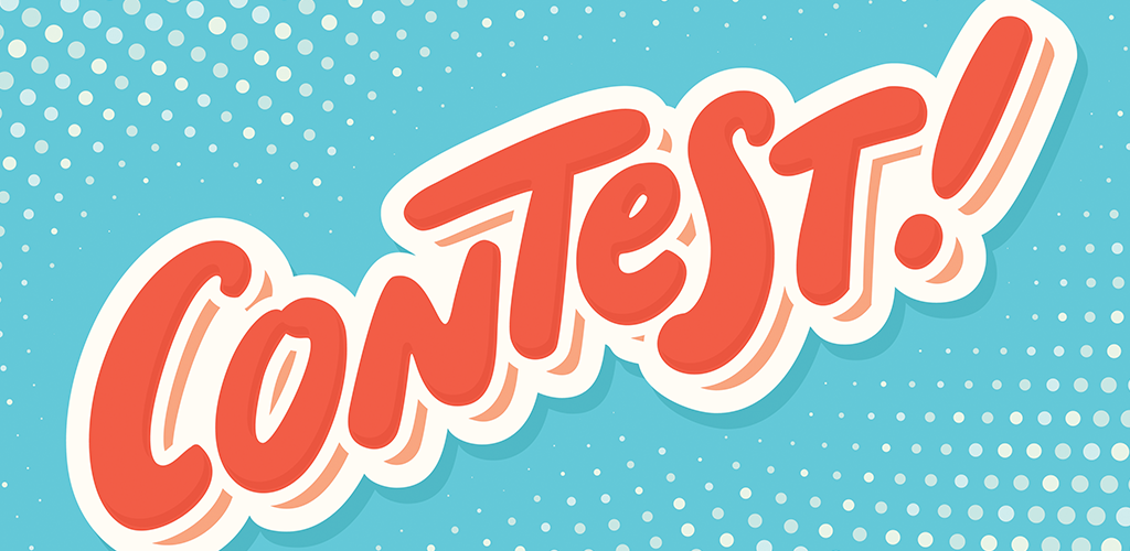 Pop-style banner announcing a contest