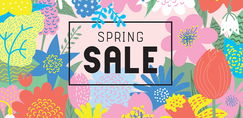 Spring sale floral banner